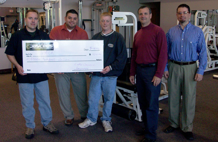 Jaycees Donate to spruce up YMCA Benches