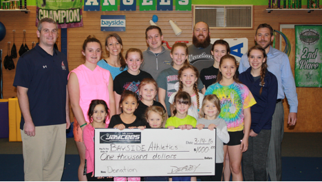 Lake Geneva Jaycees donate to local Cheer Club