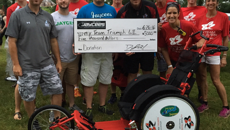 Lake Geneva Jaycees donate to My Team Triumph