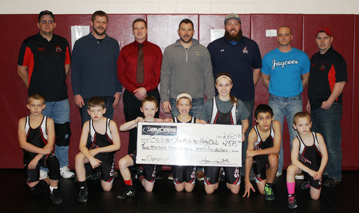 Lake Geneva Jaycees give back to Badger Youth Wrestling Club