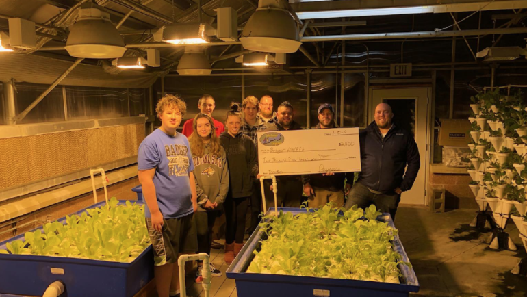 Badger Ag Department and FFA Donation